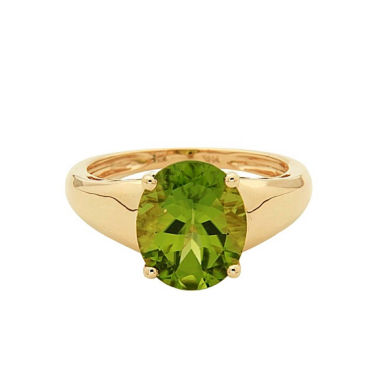 jcpenney.com | LIMITED QUANTITIES! Green Peridot 14K Gold Cocktail Ring