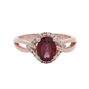 jcpenney.com | LIMITED QUANTITIES! 1/5 CT. T.W. Red Rhodolite 14K Gold Cocktail Ring