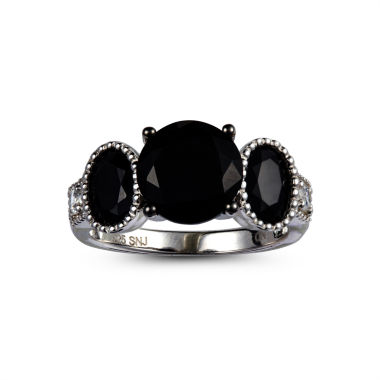 jcpenney.com | Womens Black Spinel Sterling Silver 3-Stone Ring