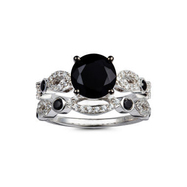 jcpenney.com | Womens Black Spinel Sterling Silver Cocktail Ring