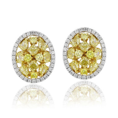 jcpenney.com | 2 CT. T.W. Yellow Diamond 18K Gold Stud Earrings