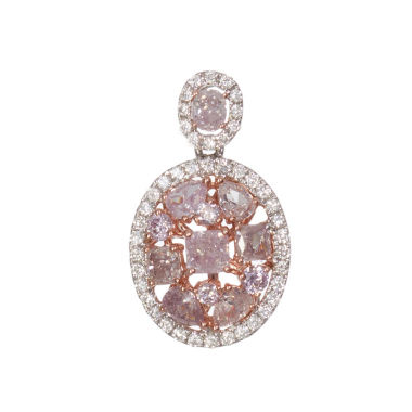 jcpenney.com | 1 1/3 CT. T.W. Pink Diamond 18K Gold Pendant