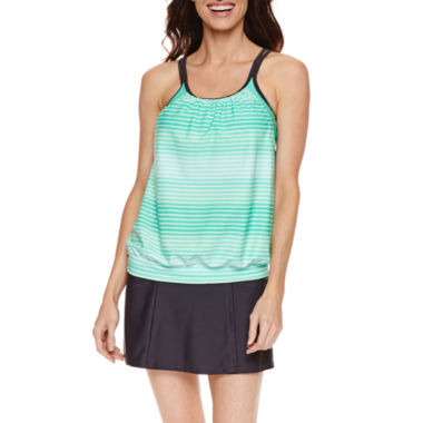 jcpenney.com | Free Country ®  Blouson  Tankini w/Adj Straps or Shirred Waistband Skirt