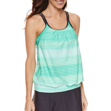 jcpenney.com | Free Country Stripe Tankini Swimsuit Top