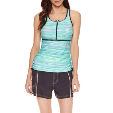 jcpenney.com | Free Country ® Zip Front Racerback Tankini or Woven Board Shorts