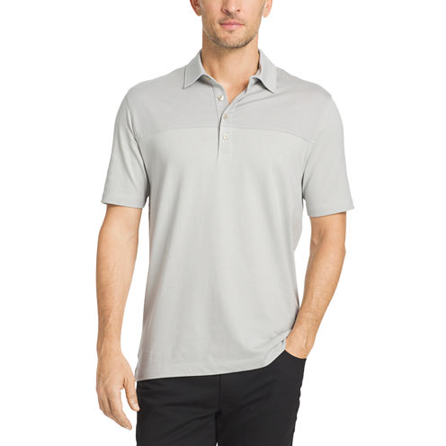 Van Heusen® Short Sleeve Blocked Feeder Stripe Polo Shirt