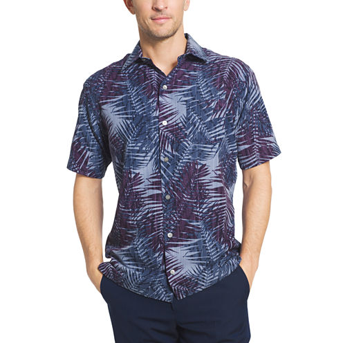 Van Heusen Short Sleeve Oasis Print Camp Button-Front Shirt