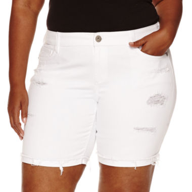 jcpenney.com | Arizona Denim Bermuda Shorts Juniors Plus
