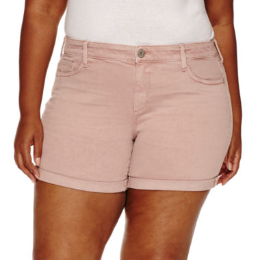 jcpenney.com | Arizona Midi Shorts-Juniors Plus