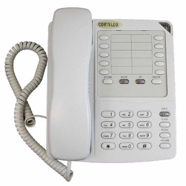 jcpenney.com | Cortelco ITT-2204FROST Colleague Corded Telephone with Enhanced Speakerphone - Frost