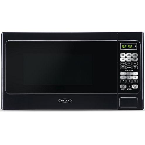 Bella 700-Watt Black Compact Microwave Oven, 0.7 Cubic Feet