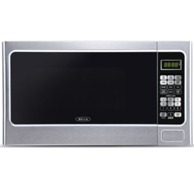 jcpenney.com | Bella 1000-Watt Stainless and Black Microwave Oven, 1.1 Cubic Feet