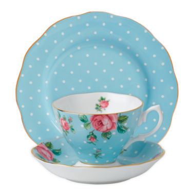 jcpenney.com | Royal Albert Polka Rose 3-pc. Place Setting