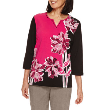 jcpenney.com | Alfred Dunner Theater District 3/4 Sleeve Print Top