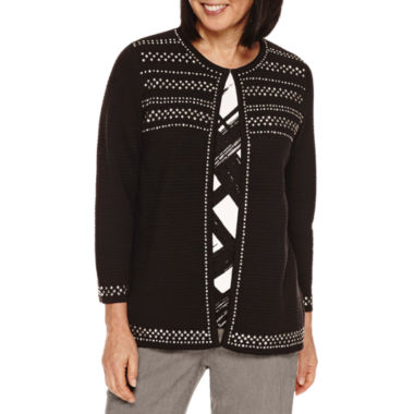 jcpenney.com | Alfred Dunner Theater District 3/4 Sleeve Cardigan