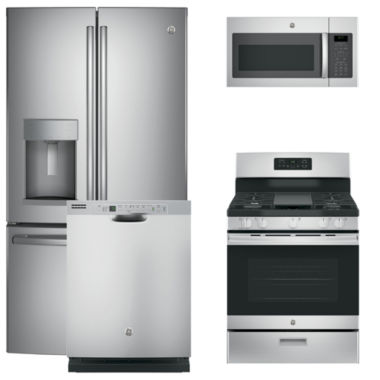 jcpenney.com | GE® 4-pc. Gas Kitchen Package- Stainless Steel