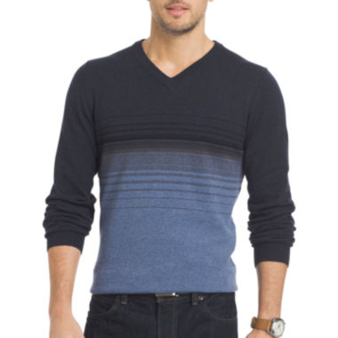 jcpenney.com | Van Heusen® Striped Fashion V-Neck Sweater