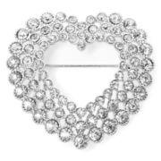 Monet® Silver-Tone Openwork Heart Pin