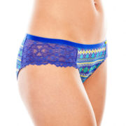 Flirtitude® Mesh and Lace Cheeky Panties