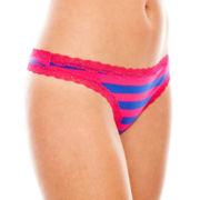 Flirtitude® Lace-Trim Thong Panties