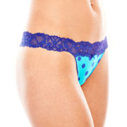Flirtitude® Lace-Accented Thong Panties