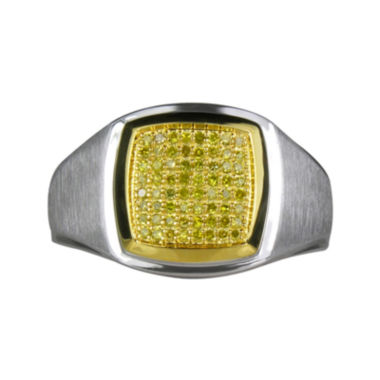 jcpenney.com | LIMITED QUANTITIES Mens 1/4 CT. T.W. Color-Enhanced Yellow Diamond Ring