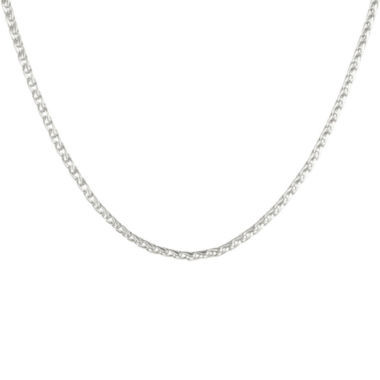 "jcpenney.com | Mens Stainless Steel 24"" 3mm Wheat Chain"