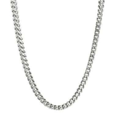 "jcpenney.com | Mens Stainless Steel 22"" 4mm Foxtail Chain"