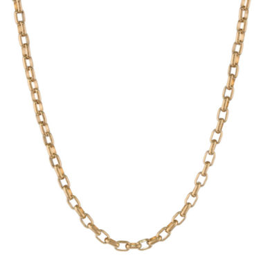 "jcpenney.com | Mens Stainless Steel & Gold-Tone IP 22"" 4mm Foxtail Chain"