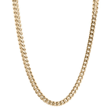 "jcpenney.com | Mens Stainless Steel & Gold-Tone IP 20"" 4mm Foxtail Chain"