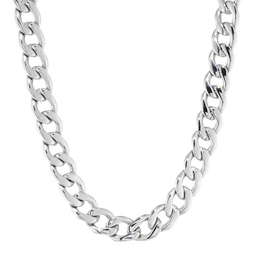 "Mens Stainless Steel 22"" 13mm Chunky Curb Chain"