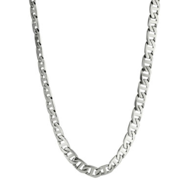 "jcpenney.com | Mens Stainless Steel 30"" 10mm Marine Link Chain"