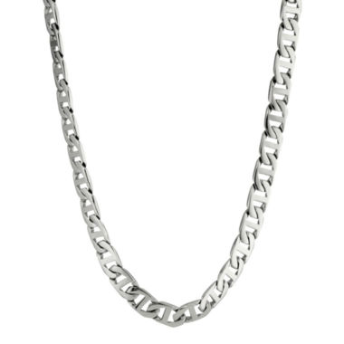 "jcpenney.com | Mens Stainless Steel 22"" 10mm Marine Link Chain"