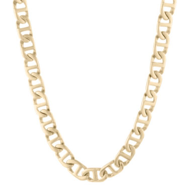 "jcpenney.com | Mens Stainless Steel & Gold-Tone IP 22"" 10mm Marine Link Chain"