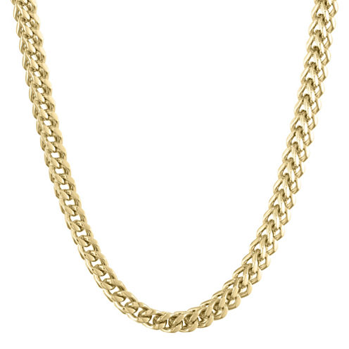 "Mens Stainless Steel & Gold-Tone IP 22"" 6mm Foxtail Chain"