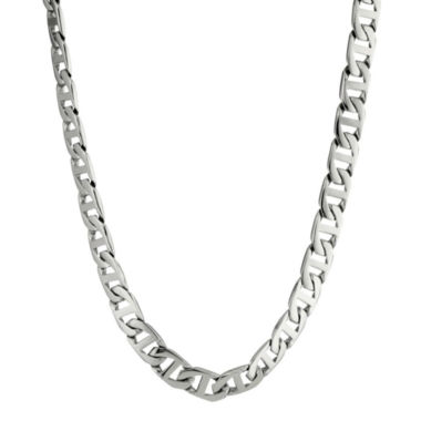 "jcpenney.com | Mens Stainless Steel 20"" 10mm Marine Link Chain"