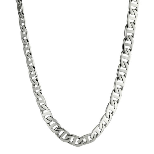 """Mens Stainless Steel 20"""" 10mm Marine Link Chain"""
