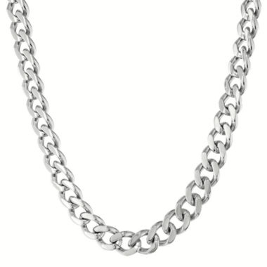 "jcpenney.com | Mens Stainless Steel 30"" 12mm Chunky Curb Chain"