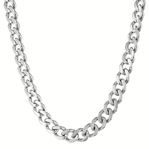 "Mens Stainless Steel 30"" 12mm Chunky Curb Chain"