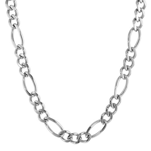 "Mens Stainless Steel 22"" 11mm Figaro Chain"