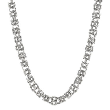 "jcpenney.com | Mens Stainless Steel 24"" 7mm Byzantine Chain"