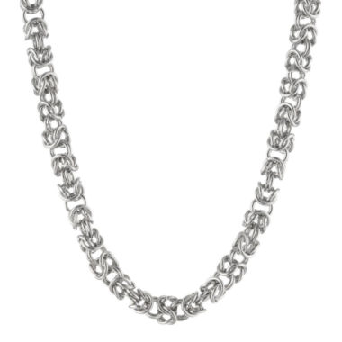 "jcpenney.com | Mens Stainless Steel 18"" 7mm Byzantine Chain"