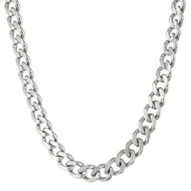 "jcpenney.com | Mens Stainless Steel 24"" 12mm Chunky Curb Chain"