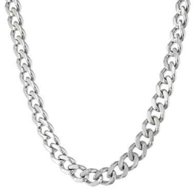 "jcpenney.com | Mens Stainless Steel 20"" 12mm Chunky Curb Chain"