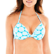 Stylus Pushup Halter Bra Swim Top
