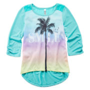 Beautees 3/4-Sleeve Graphic Tee - Girls 7-16