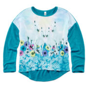 Beautees Hi-Low Screen Top - Girls 7-16