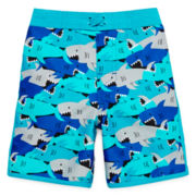Arizona Shark Camo Swim Trunks – Boys 2t-5t