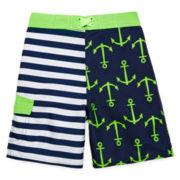 Arizona Striped Anchor Swim Trunks – Boys 2t-5t