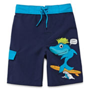 Arizona Surfing Shark Swim Trunks - Boys 4-7